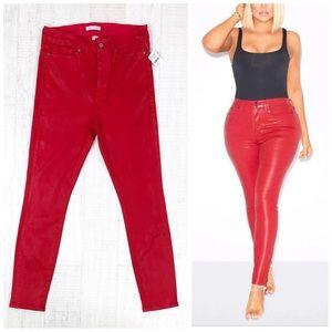 Good American Coated High Waist Skinny Jeans 14/32